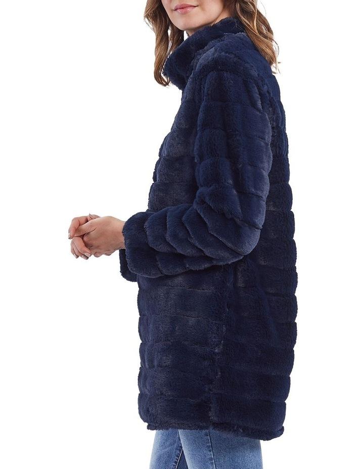 Faux Fur Zip Front Jacket image 2
