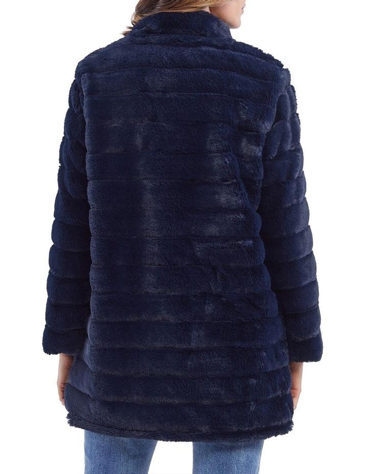 Faux Fur Zip Front Jacket image 3