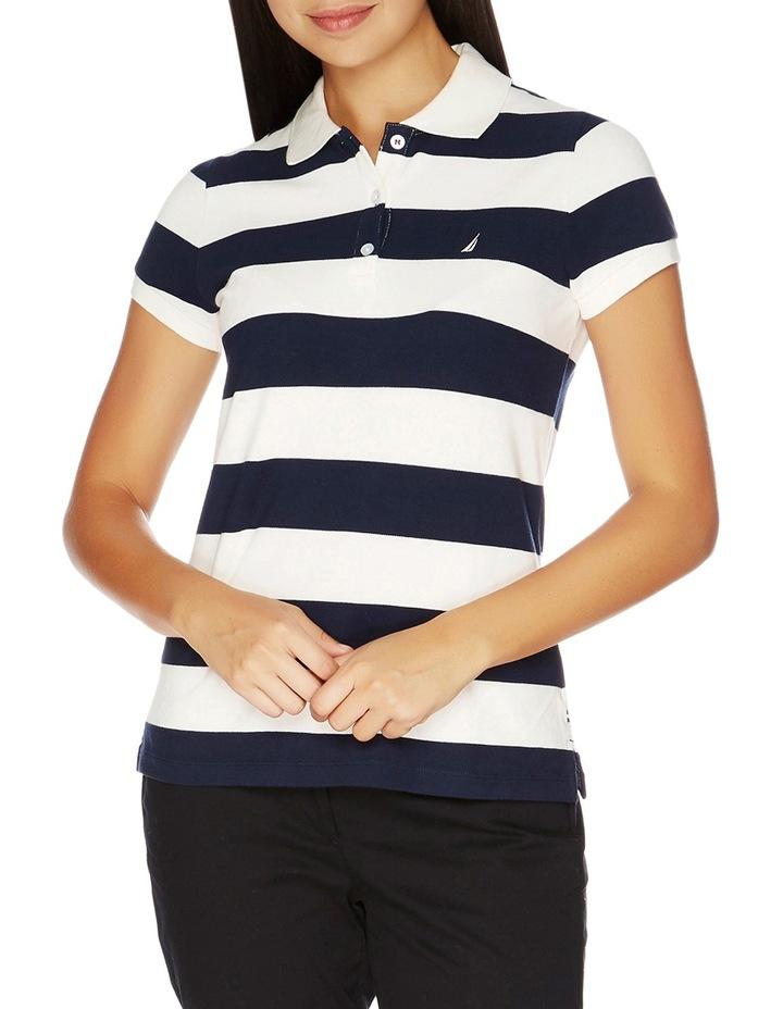 Short Sleeve Stripe Polo image 1
