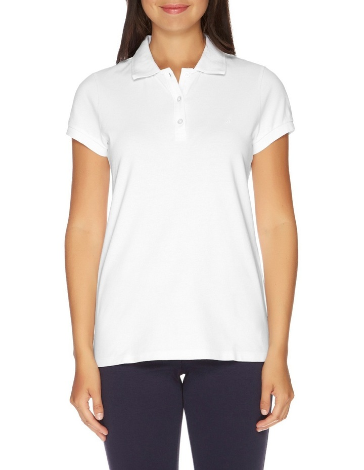 SOLID SS POLO BRIGHT WHITE image 1