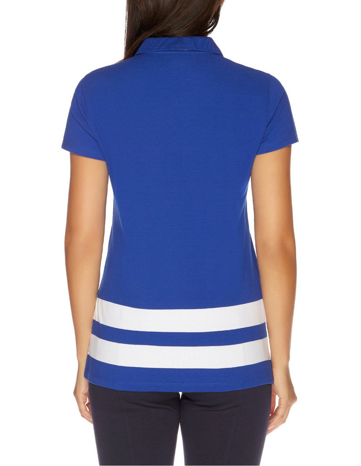 Short Sleeve Pieced Stripe Polo image 2