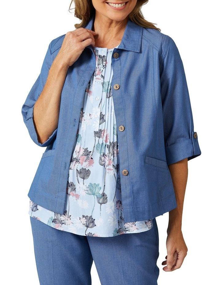 Adaire 3/4 Sleeve Blue Denim Jacket image 1