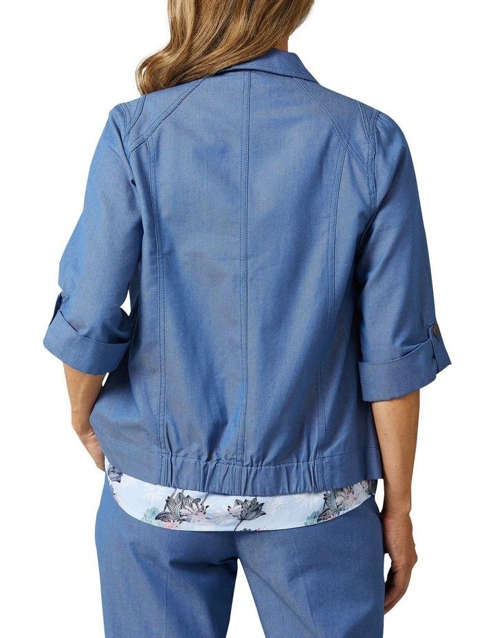 Adaire 3/4 Sleeve Blue Denim Jacket image 2