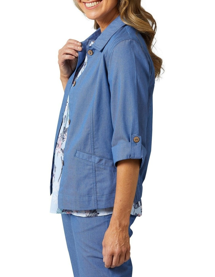 Adaire 3/4 Sleeve Blue Denim Jacket image 3