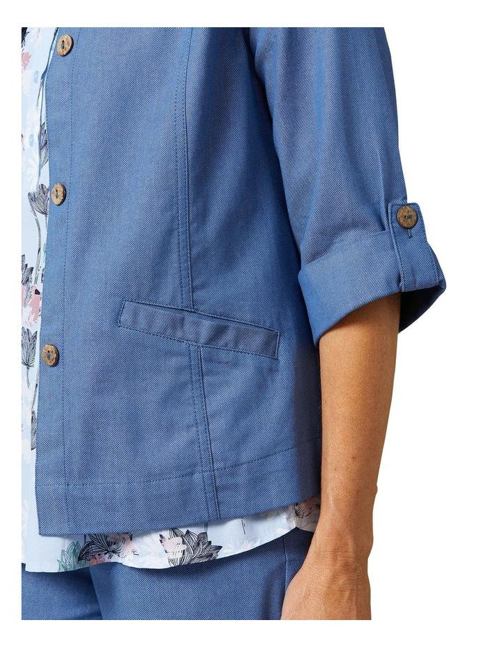 Adaire 3/4 Sleeve Blue Denim Jacket image 4