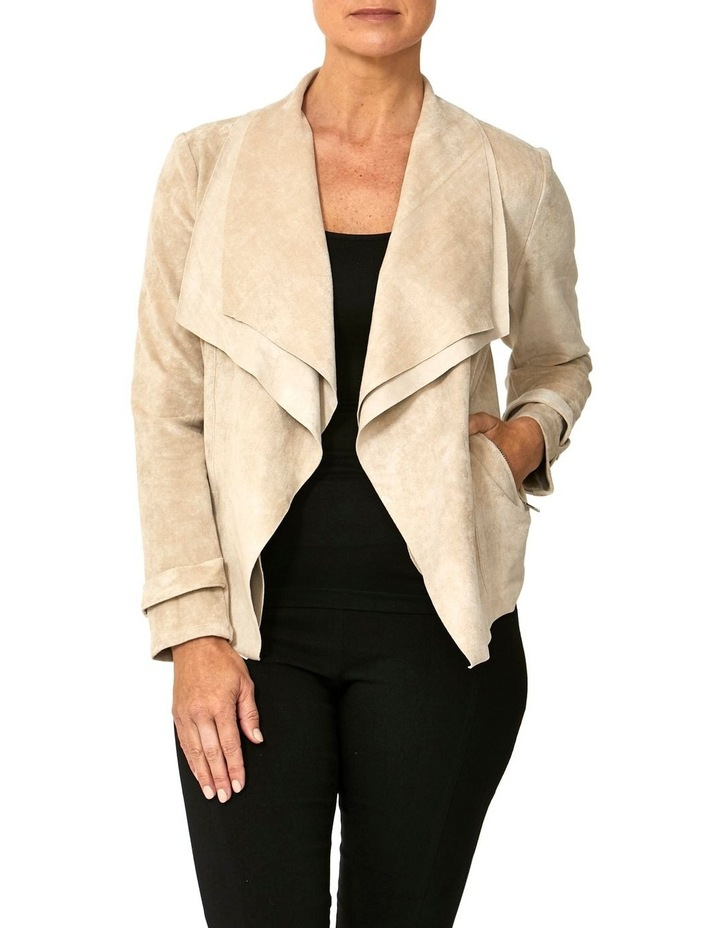 WATERFALL FAUX SUEDE JACKET image 1