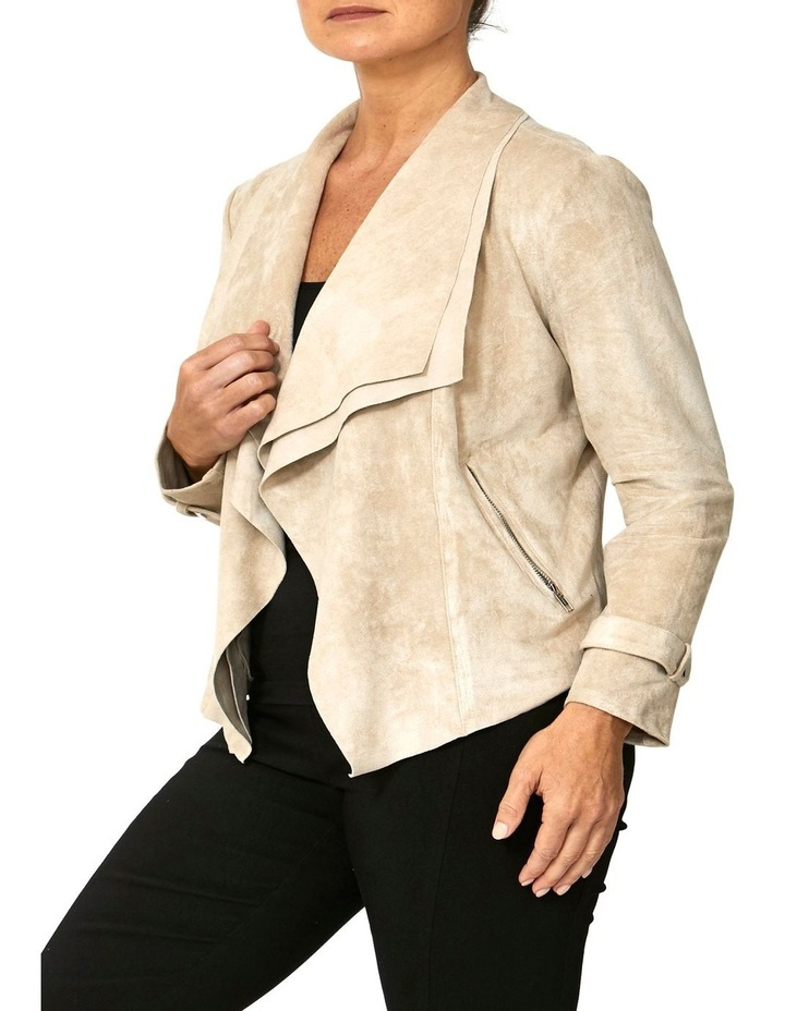 WATERFALL FAUX SUEDE JACKET image 3