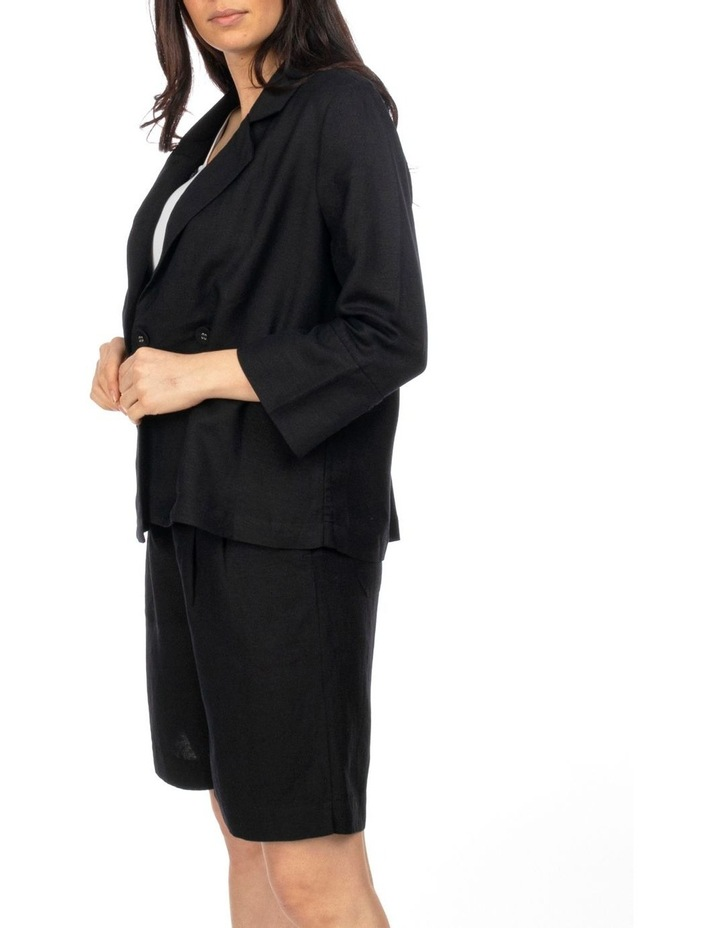 3/4 Sleeve Double Breasted Crop Jacket image 2