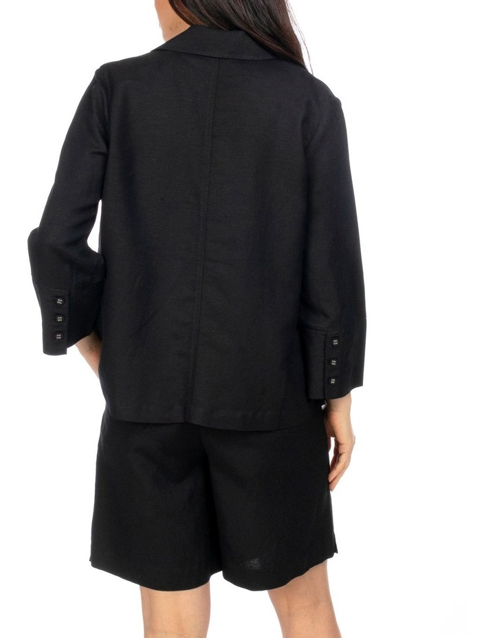 3/4 Sleeve Double Breasted Crop Jacket image 3