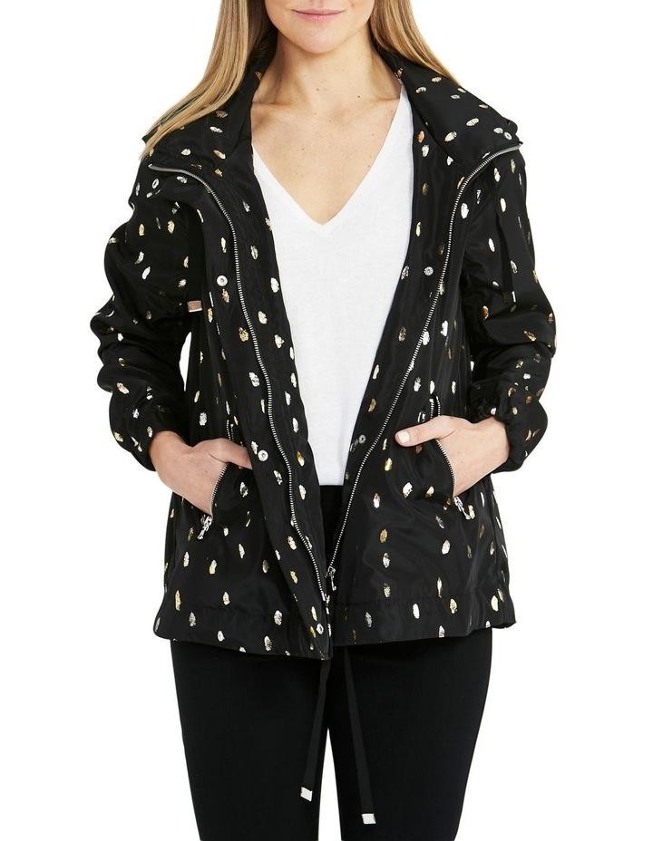 Foil Print Black/Metallic Lightweight Jacket image 1
