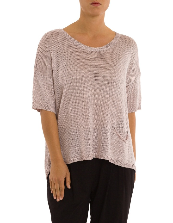 Short Sleeve Metallic Pullover image 1