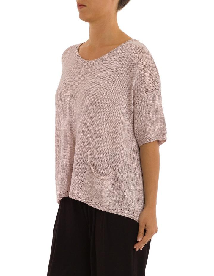 Short Sleeve Metallic Pullover image 2