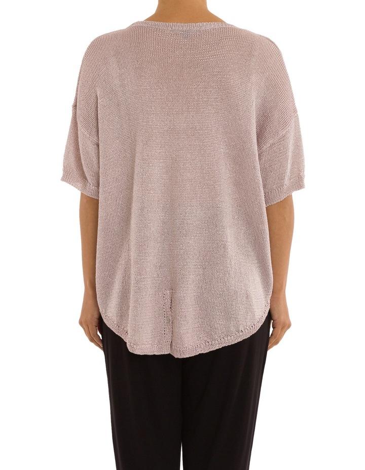 Short Sleeve Metallic Pullover image 3