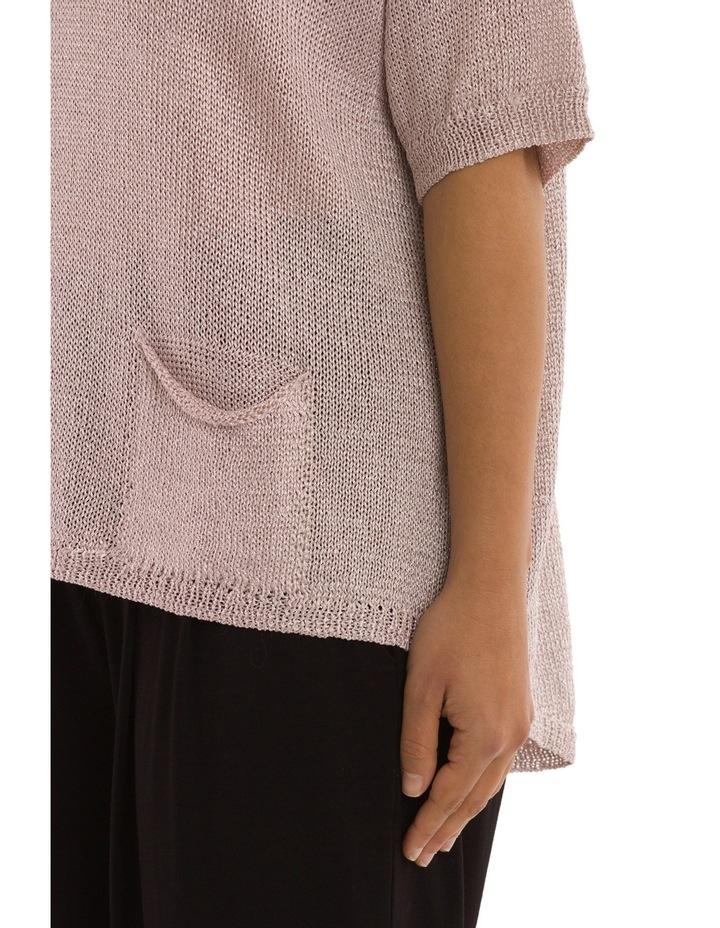 Short Sleeve Metallic Pullover image 4