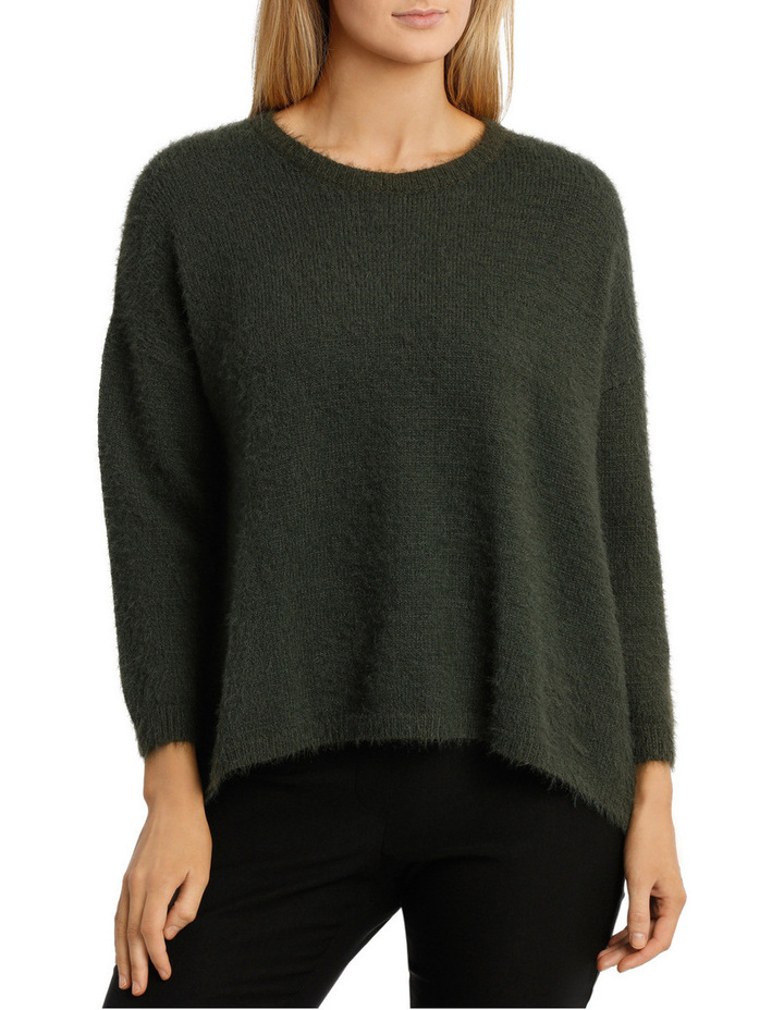 Feather knit pullover image 1