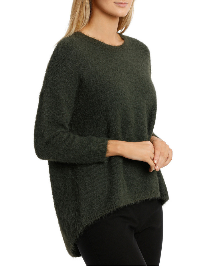 Feather knit pullover image 2
