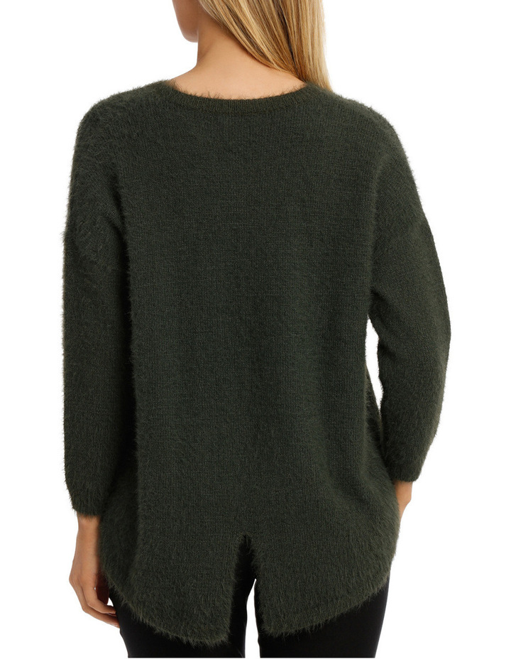 Feather knit pullover image 3