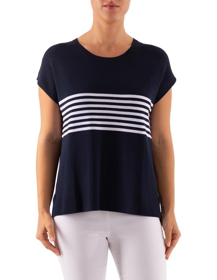 Drop Shoulder Placement Stripe Pullover image 1