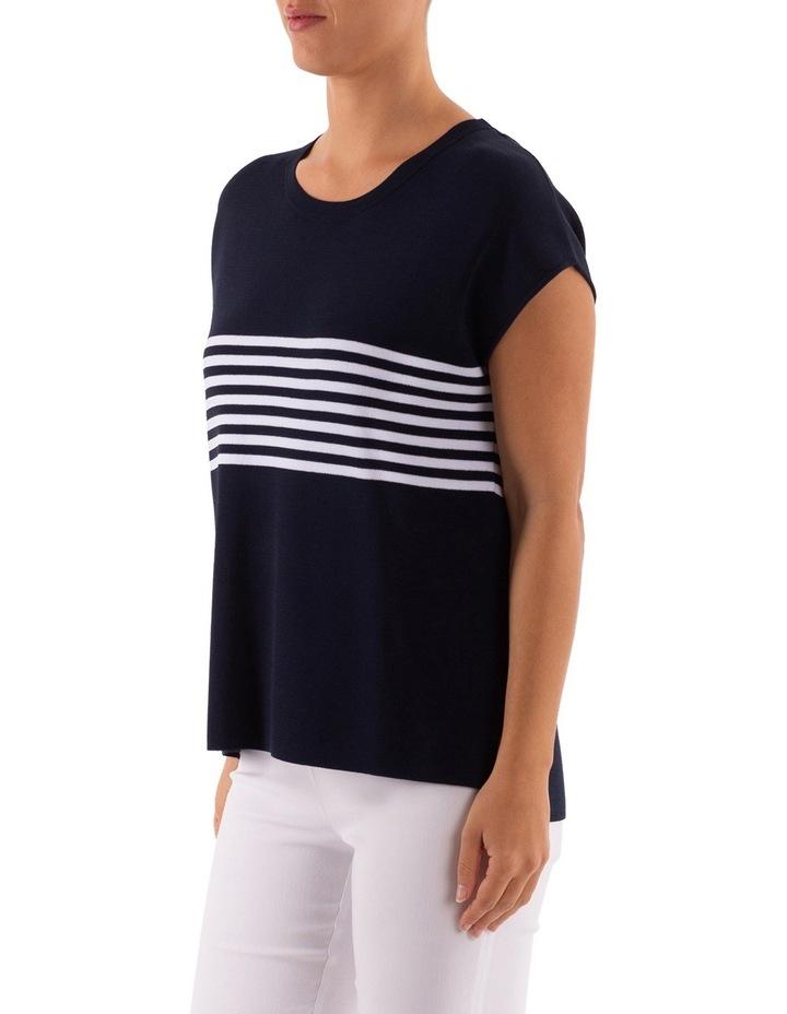 Drop Shoulder Placement Stripe Pullover image 2