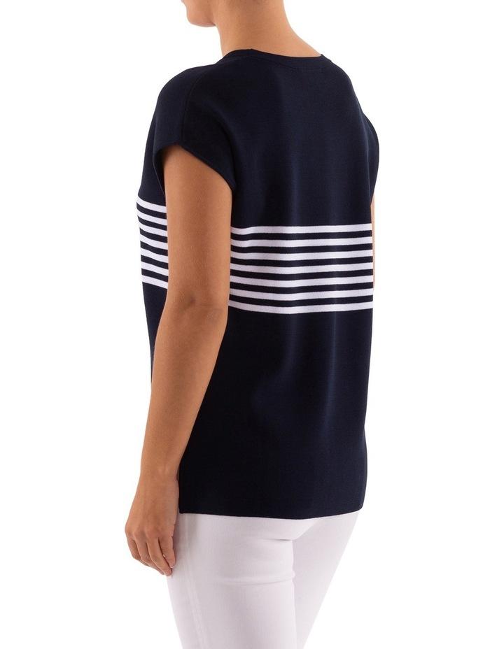 Drop Shoulder Placement Stripe Pullover image 3