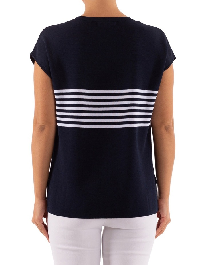 Drop Shoulder Placement Stripe Pullover image 4