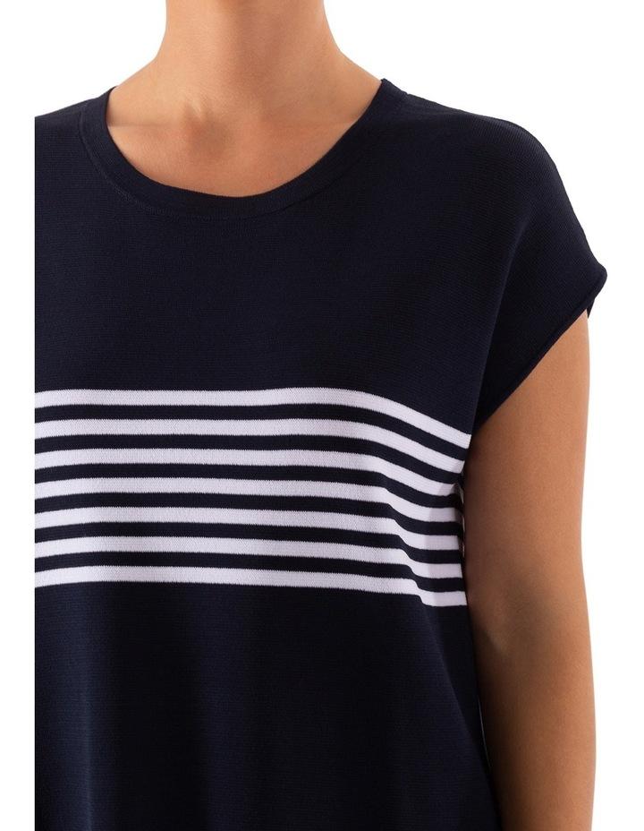 Drop Shoulder Placement Stripe Pullover image 5
