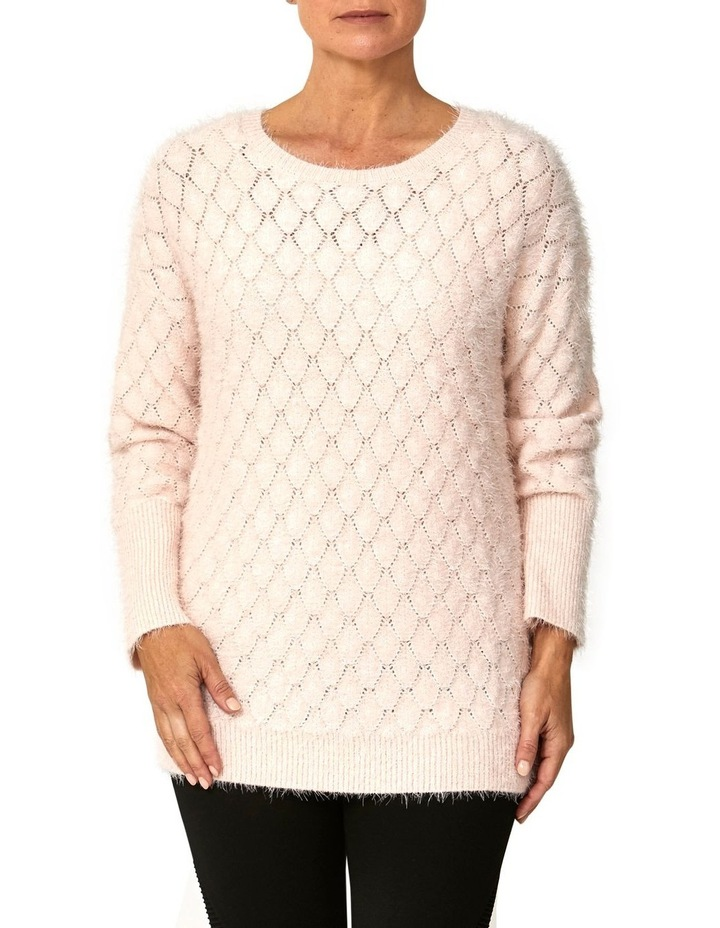 Textured Feather Knit Pullover image 1