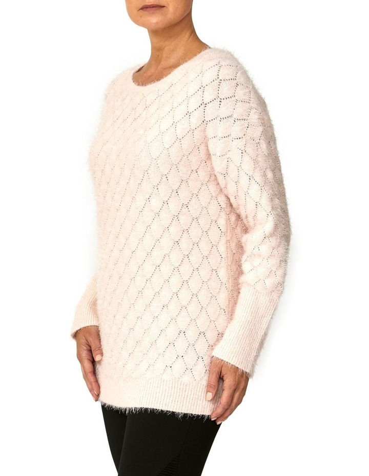 Textured Feather Knit Pullover image 2