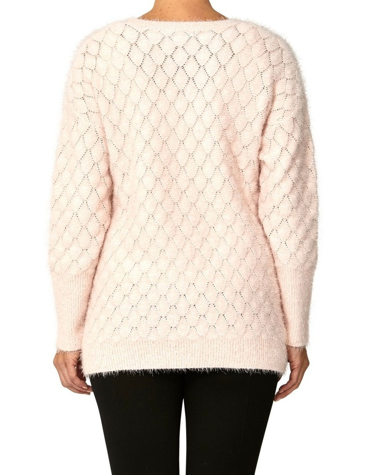 Textured Feather Knit Pullover image 3