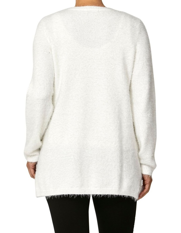 Crew Neck Feather Knit Pullover image 4