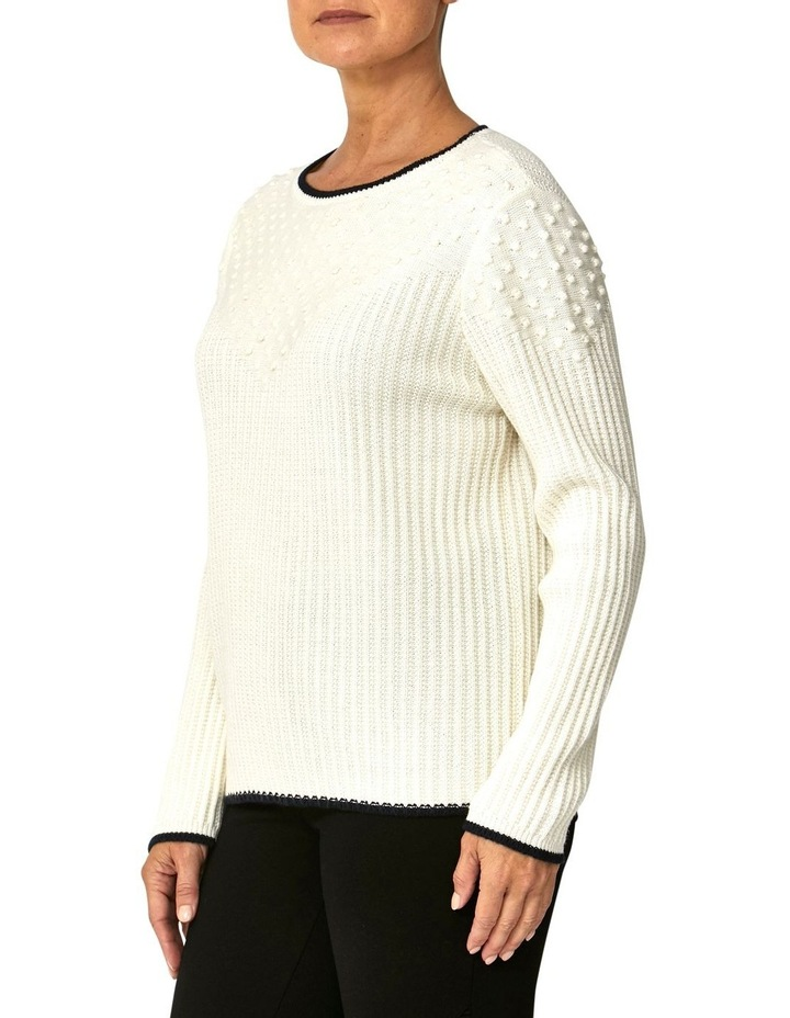 TEXTURED TIPPING PULLOVER image 2
