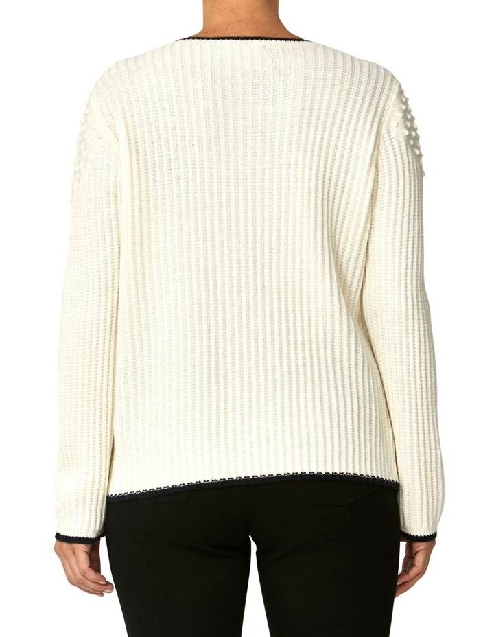 TEXTURED TIPPING PULLOVER image 3