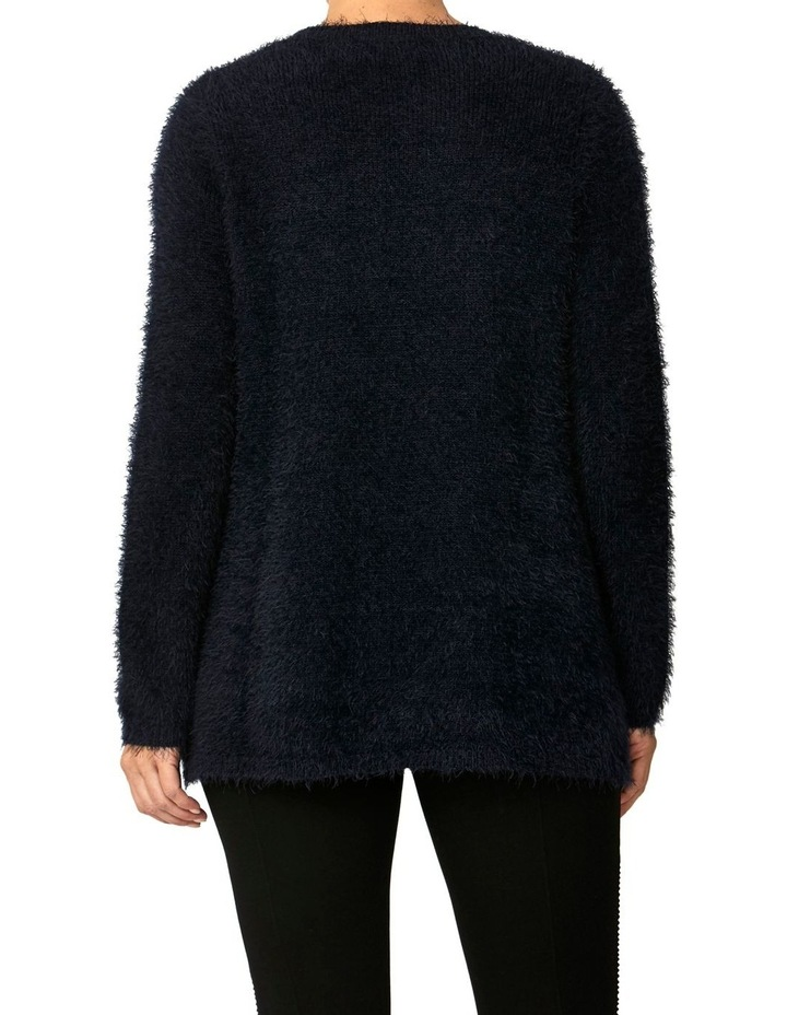 CREW NECK FEATHER KNIT PULLOVER image 3
