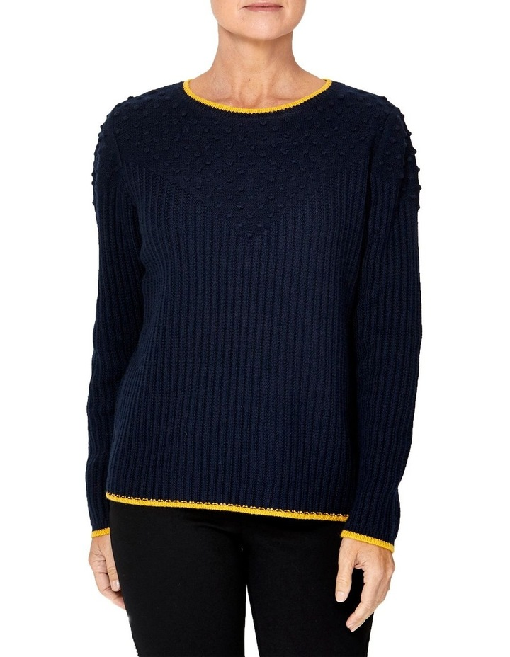 TEXTURED TIPPING PULLOVER image 1