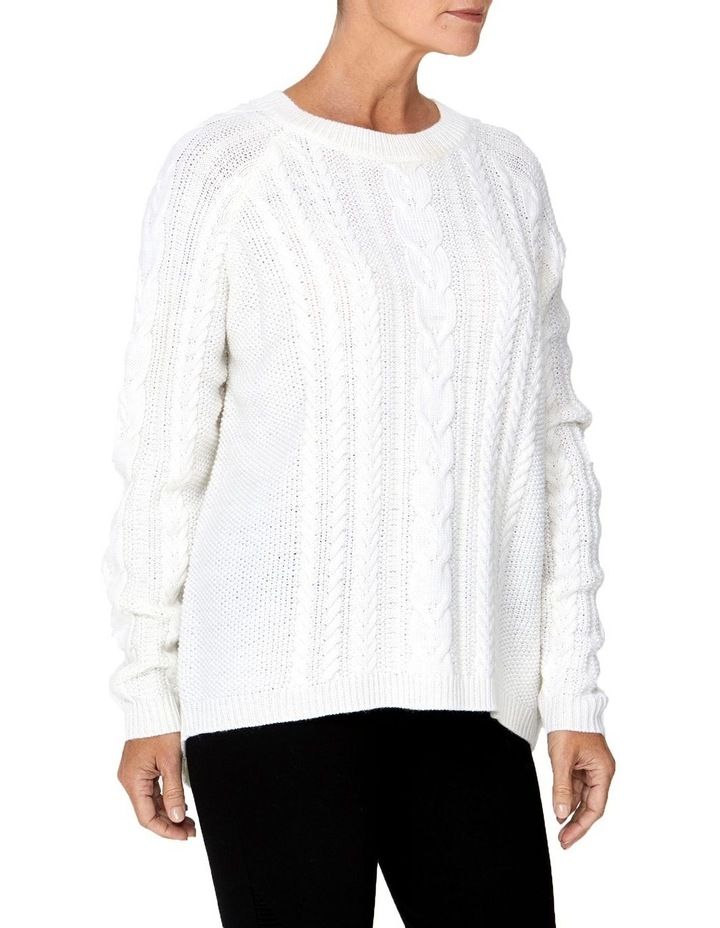 CABLE RAGLAN SLEEVE PULLOVER image 2