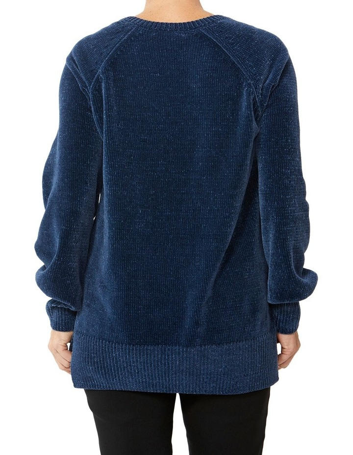 V-Neck Wide Sleeve Chenille Pullover image 3