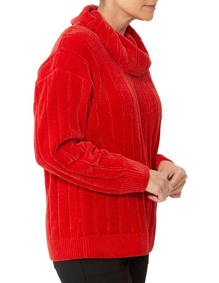 Cowl Neck Chenille Pullover image 2