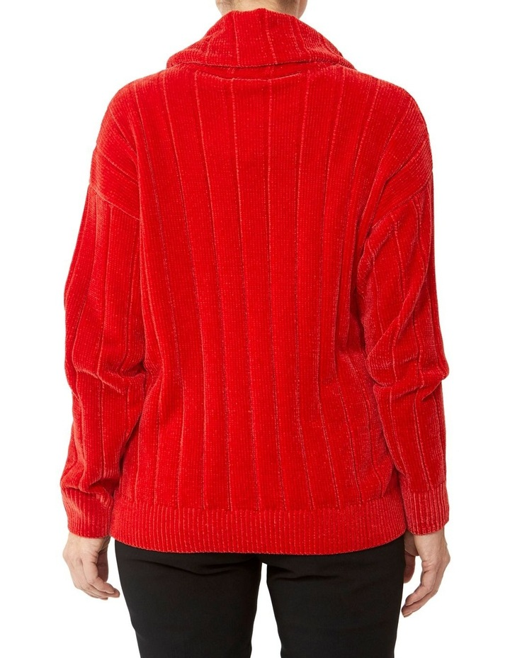 Cowl Neck Chenille Pullover image 3