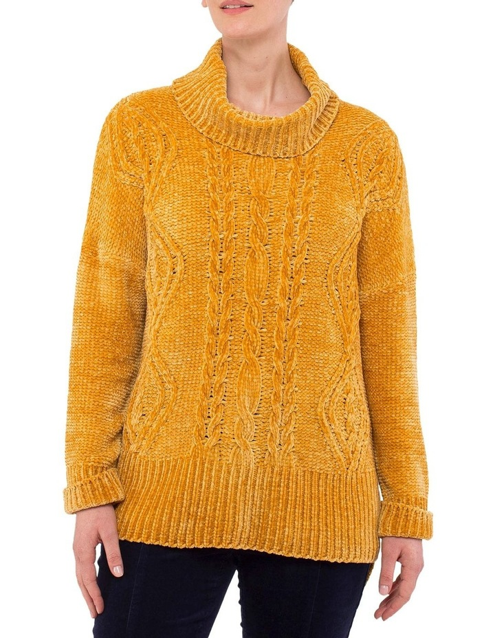 Chenille Cable Pullover Knit image 1