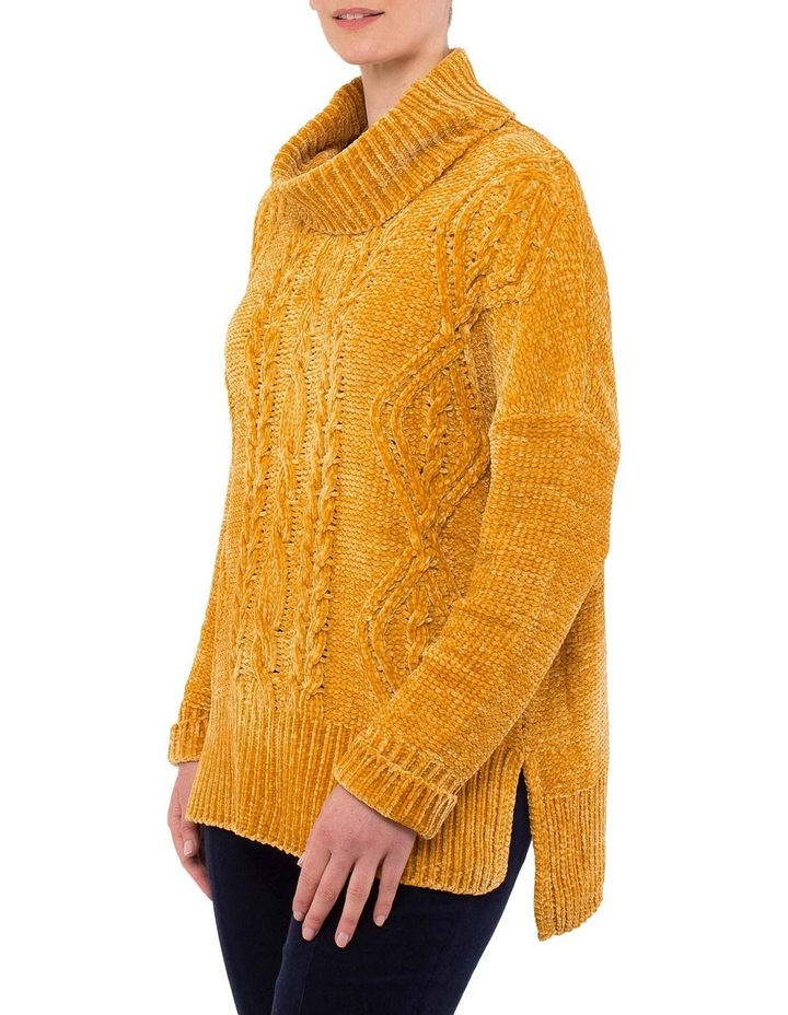 Chenille Cable Pullover Knit image 2