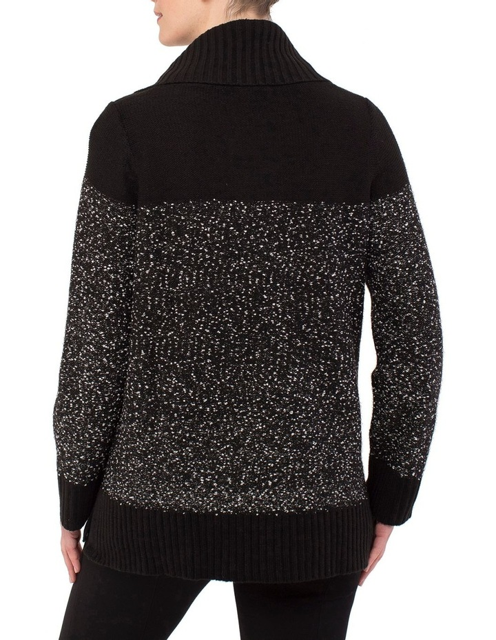 Cowl Neck Flecked Pullover Knit image 3