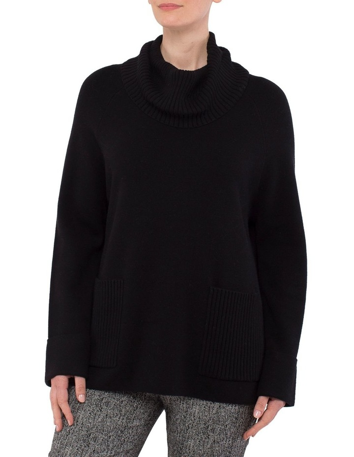 Roll Neck Boxy Pullover Knit image 1