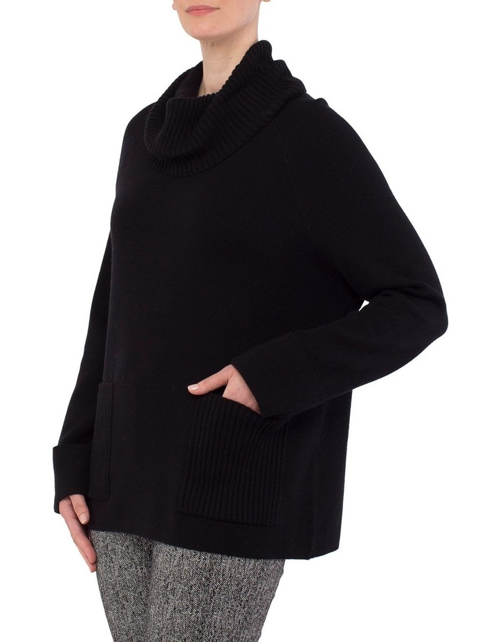 Roll Neck Boxy Pullover Knit image 2