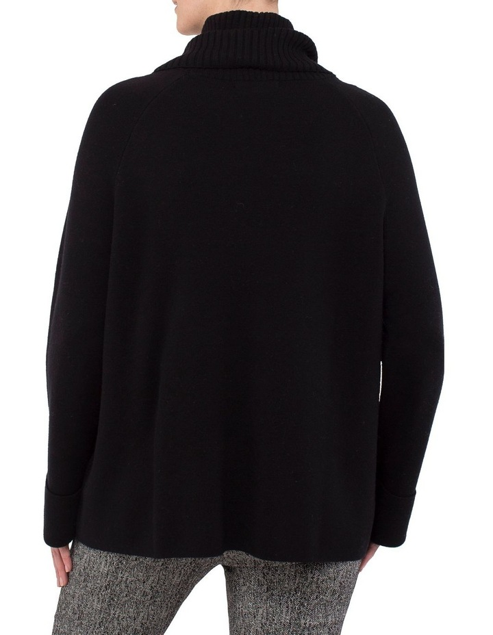 Roll Neck Boxy Pullover Knit image 3