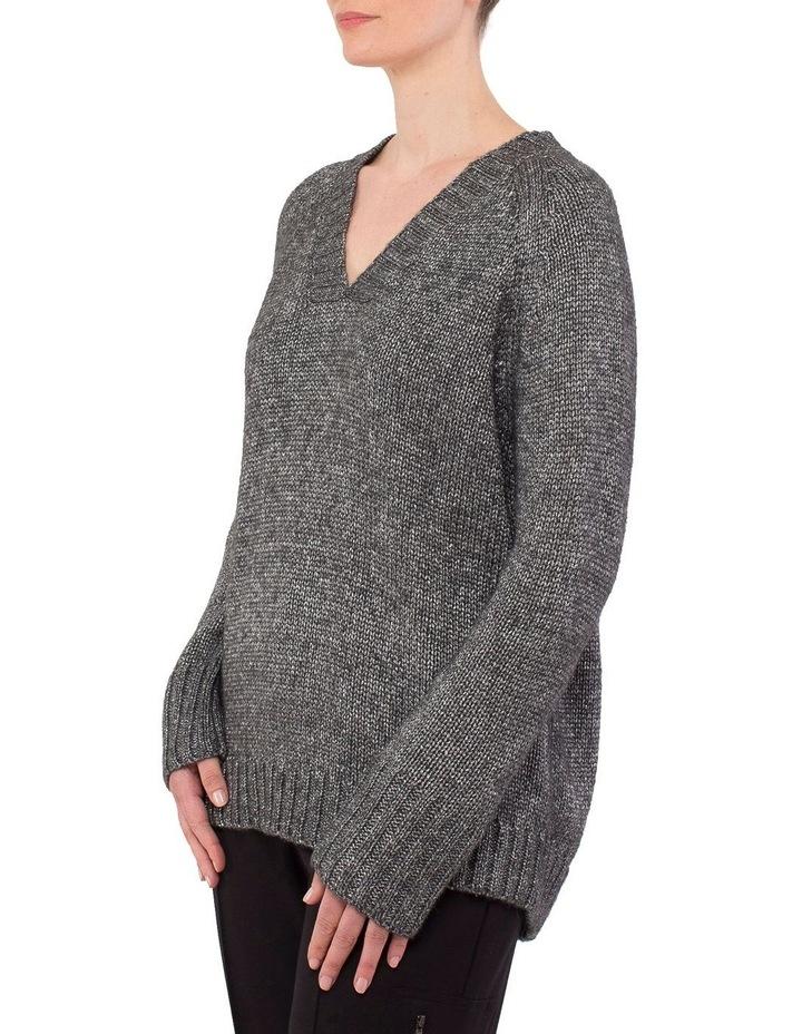 V-Neck Metallic Pullover image 2