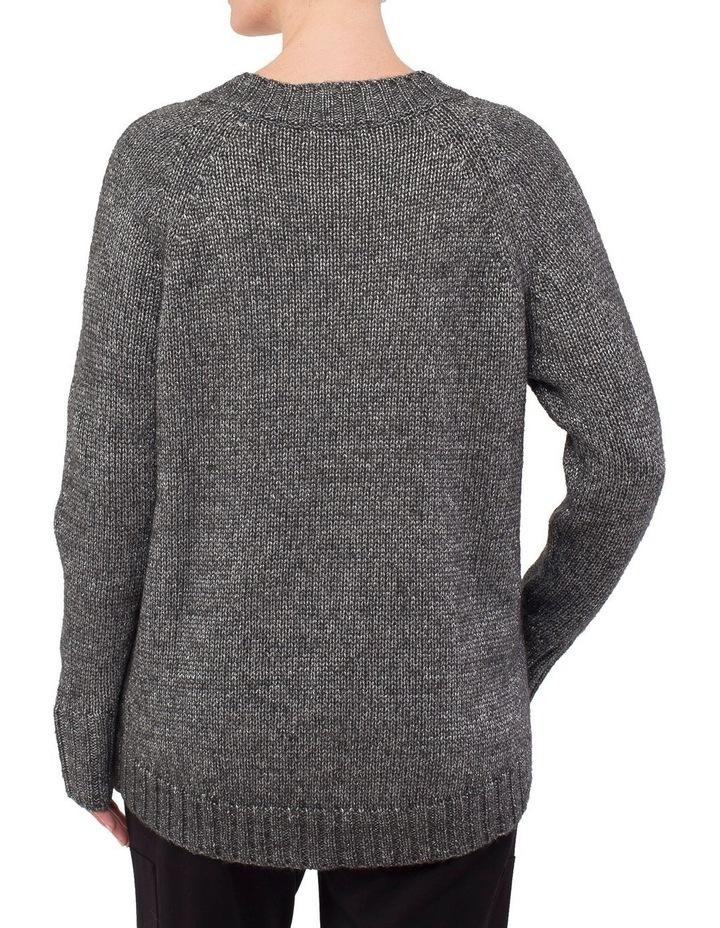 V-Neck Metallic Pullover image 3