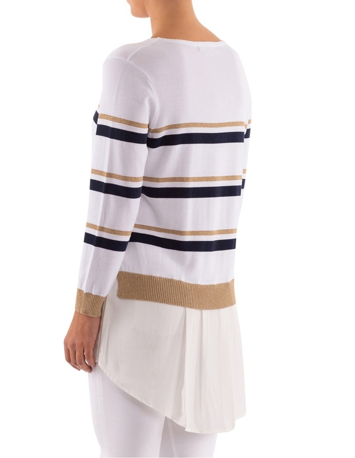 Stripe Pullover With Shirt Tail image 4