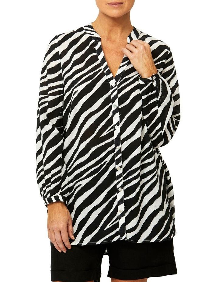 Zebra Print Tunic Shirt image 1