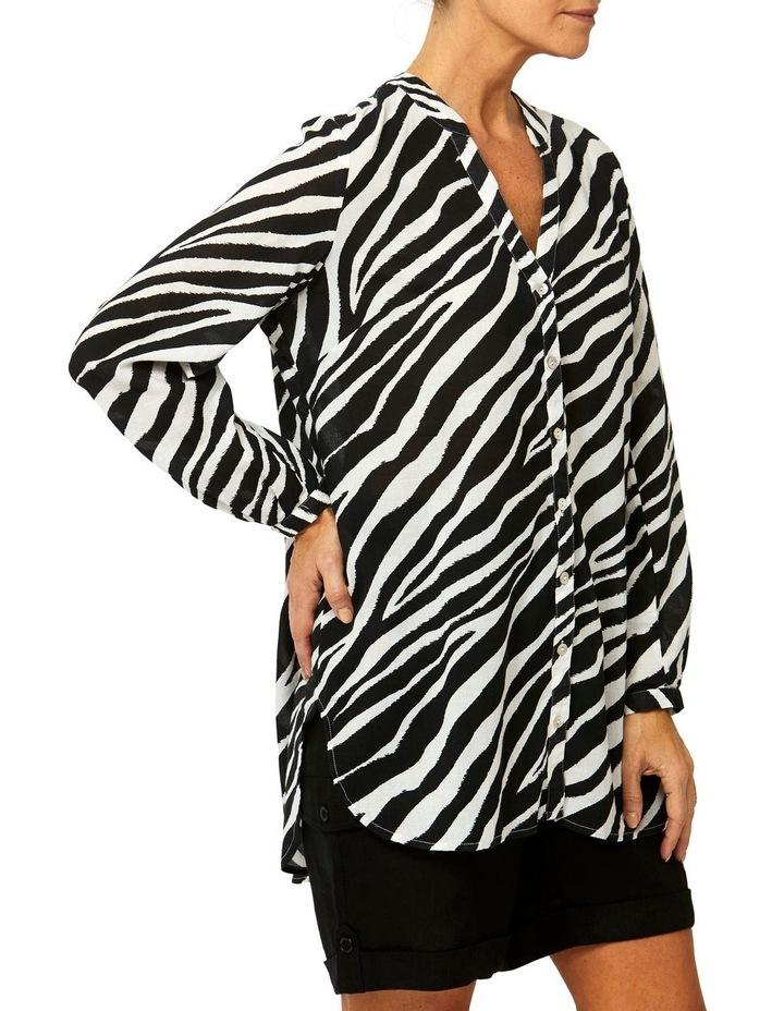 Zebra Print Tunic Shirt image 2