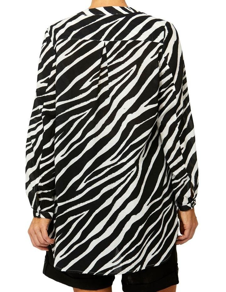 Zebra Print Tunic Shirt image 3